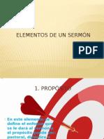 Elementos de Un Sermón