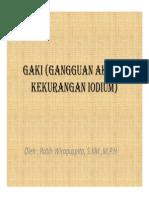 Gaki (Gangguan Akibat Kekurangan Iodium)