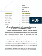 Motion for Dismissal or Recusal - Mosby