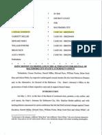 Baltimore Police Motion for SA Recusal