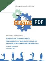 CIPSTRA - Documento de Trabajo N°5. Explotación, flexibilización y precariedad del trabajo a la luz de los procesos de restructuración productiva