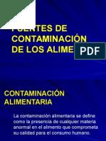 Fuentes de Contaminacion de Alimentos