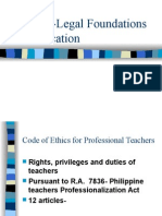 Ethical-Legal Foundations of Education