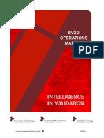 Bv20 Operations Manual
