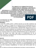 RM 573-92-SA-DM-Reglamento de Guardias-Alimentos