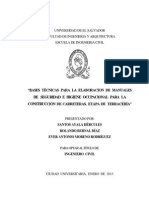 Bases Técnicas Para La Elaboración de Manuales de Seguridad e Higiene Ocupacional Para La Construcción de Carreteras%2C Etapa de Terracería