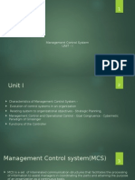 Management Control System Unit