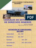 Causales de Extinción de Conseciones Mineras.ppt