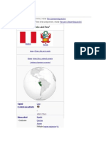 Perú Geografia Pezca y Costumbres