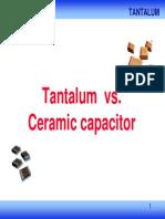 Tantalum vs Ceramic