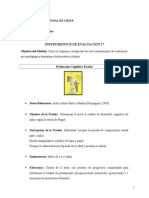 test de evaluacion cognitiva de Arturo Pinto, Paulina Domínguez