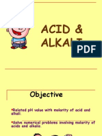 7.3 (c) Molarity of Acid and Alkali