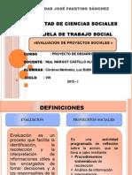 Evaluacion de Proyectos Sociales