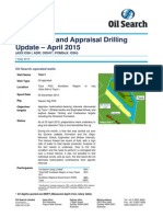 Oil SEarch Drilling Report for April 2015