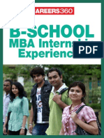 MBA Internship Experiences