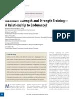 maximum strength and strength training