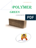 GEOPOLYMER GREEN CONCRETE