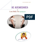 HOME REMEDIES TO LOSE BELLY FAT NATURALLY