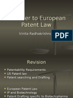 A Primer to European Patent Law