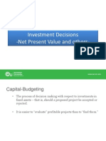 Investment Decisions NPV 2014