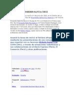 Biografía Nicomedes Santa Cruz