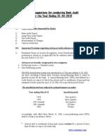 check list for branch stat audit
