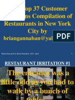 2015 Top Customer Irritations Compilation of Restaurants Industry_BrianGannaban