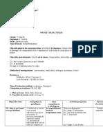 Projet Didactique Ve Classe