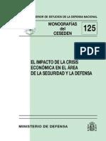 125 El Impacto de La Crisis Economica en El Area de La Seguridad y La Defensa.