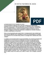 La Tergiversación de Los Mandatos de Jesús