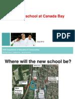 new school presentation - 25 july community meeting new public school