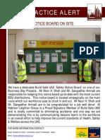 61 Bsu Best Practice Alert - Safety Notice Board on Site