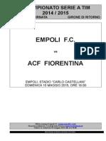 Empoli-Fiorentina - 35° giornata serie A