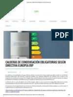 Calderas de Condensación Obligatorias Según Directiva ErP