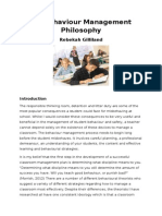 my behaviour management philosophy - eportfolio