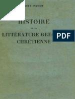 Puech, Histoire de la littérature grecque chrétienne