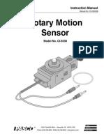Rotary Motion Sensor Manual CI 6538