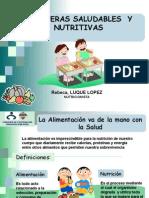 Diapositivas Loncheras Saludables de Nutricion