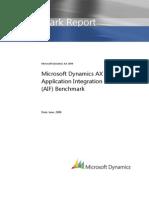 Microsoft Dynamics AX 2009 AIF Benchmark Summa