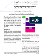 A Synthesize Virtual Machine Provisioning Mechanism for Cloud Data Center