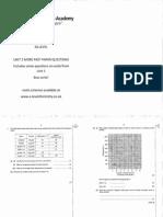 Unit 2 More Past Paper Questions