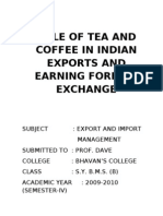 ROLE OF TEA AND COFFEE IN INDIAN EXPORTS