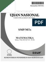 Bocoran Soal UN Matematika SMP 2015 by Pak-Anang.blogspot.com