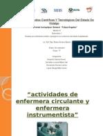 Funciones de Enfermera Circulante e Instrumentista