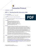 Business Transaction Btp 1.1 Spec Wd 05