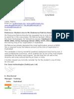 Chukwuma Patricia Amuche- Visa Letter