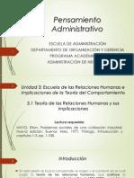3.1 Escuela Relaciones Humanas (E. Mayo)