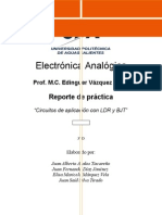 Reporte Practica Aplicaciones LDR y BJT