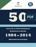50 Fallos de La Corte Suprema 1984-2014