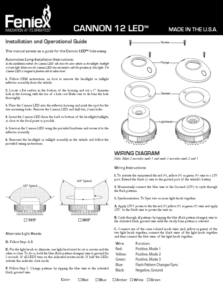 feniex cannon installation guide headlamp flash photography rh scribd com